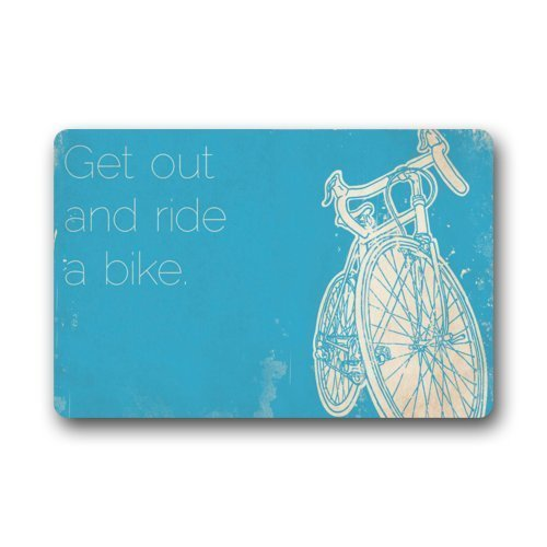 (Keke's Home Vintage Bicycle with Funny Quotes Get Out and Ride A Bike, Polyester Front Door Mat Welcome Doormat for Home, Indoor, Entrance, Kitchen, Patio, Entry, Bathroom,18