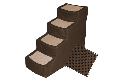 Pet Gear Designer 4-Step with Removable Cover, Pet Stairs, Chocolate, My Pet Supplies