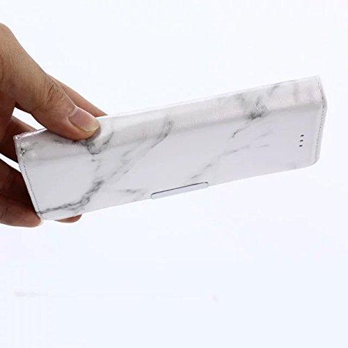 YAJIE-Carcasa Funda Para Xiaomi Mi5S, Patrón de piedra de mármol textura de cuero de la PU TPU Funda protectora de la carpeta del tirón interno con ranura para tarjeta / soporte para Xiaomi Mi5S ( Col Black