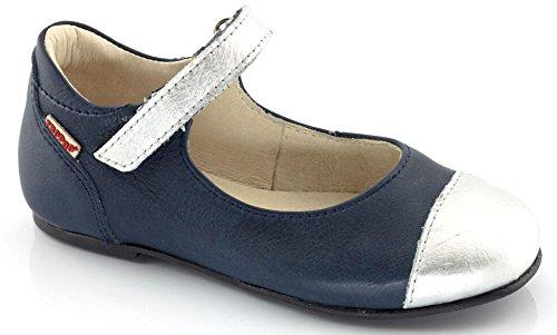 Froddo Leder Spangenschuhe Klettverschluss blau silber