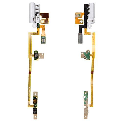 (BisLinks White Handsfree Audio Jack Volume Button Flex Cable for iPod Nano 6 6th Gen)