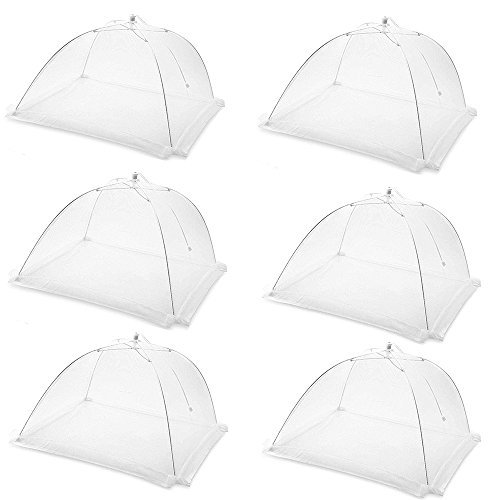6 Pack | Food Cover Tents by WellanWares | Reusable Fly Screens for Indoor and Outdoor Use | 16 Inch | Premium Mesh and Steel | Keep Flies and other Bugs out of your Food by WellanWares