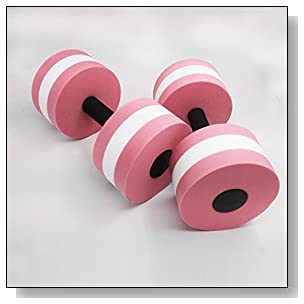 ZEYU SPORTS Aquatic Exercise Dumbbells - Set of 2 - for Water Aerobics(Pink)