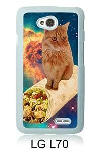 Popular Sale LG L70 Case,space cat White Customized Picture Design LG L70 Phone Case