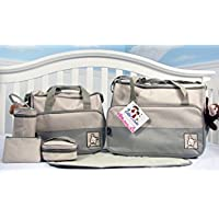 SoHo - Sage Diaper bag with changing pad 8 pieces set