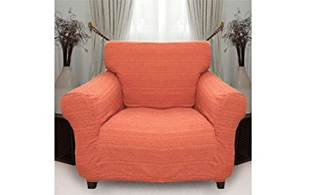 Stretch Elastic Cover (orange) For 1 Seater Armchair Slipcover