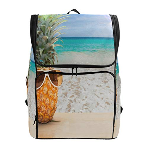(SLHFPX Laptop Backpack Beach Tropical School Backpack for Women Big Casual Back Pack)