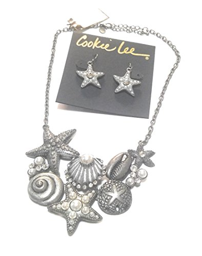 rystal Starfish Necklace & Earrings Set ()