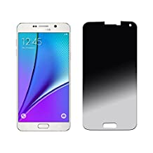 Cyxus Privacy Protection 9H Hardness Premium Tempered Glass Screen Protector for Samsung Galaxy Note 5 (Privacy Glass)