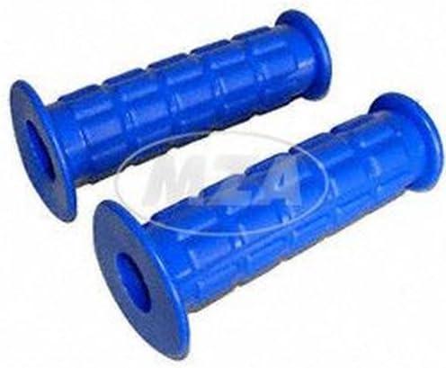 Lenkergummi Set Waffelmuster Gummigriff Muffe Für Festgriff Und Gasdrehgriff Blau S50 S51 S70 Sr50 Sr80 Auto