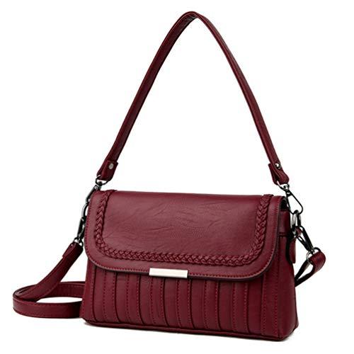Piel De Bag Mujer De De Lady Hombro Que De GLQyM Atraviesa Marea Bolso La La Costura Lavado Moda Señora Mujer Solo Bolso Bolso del Oblicuo Suave 6BqBXCI