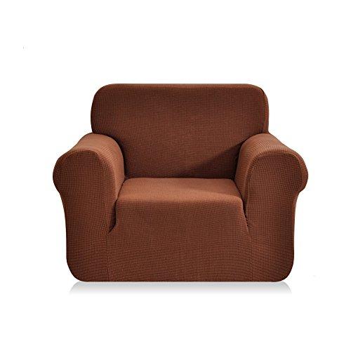 CHUN YI Jacquard Sofa Covers 1-Piece Polyester Spandex Fabric Slipcover (Chair, Coffee) -  SHAOXING SPRING HOMETEXTILE CO.,LTD, SJ0064