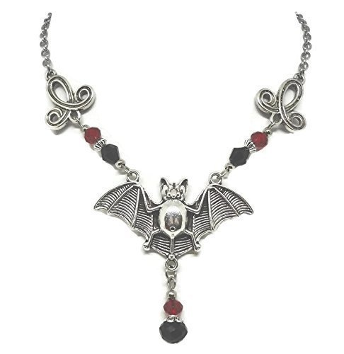 Vampire Bat Necklace - Gothic Jewelry - Bat Pendant on Stainless Steel Chain