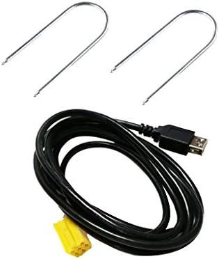 ミニISO 6ピンコネクタ USBアダプタケーブル アルファロメオグランデ プント