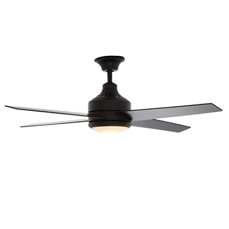 Hampton bay mercer 52 in matte black ceiling fan home and matte black ceiling fan aloadofball Image collections