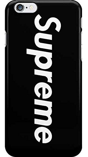 WRAP® Coque iPhone 7+ Plus et iPhone 8+ Plus Supreme Noir Jordan Air Logo Plastique rigide Noir et Blanc