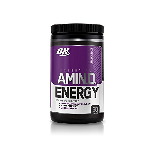 Optimum Nutrition Amino Energy with Green Tea and Green Coffee Extract, Preworkout and Amino Acids, Flavor: Concord Grape, 30 Servings
