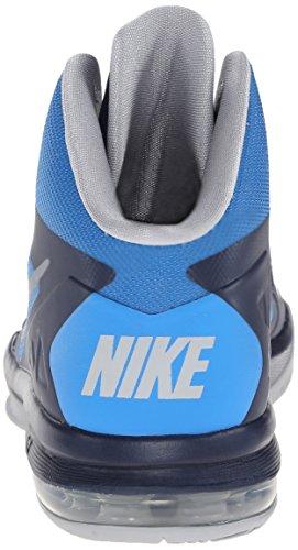 Nike Hommes Corps Air Max U Chaussure De Basket-ball Milieu Marine / Gris Loup / Pht Bl / Tm Orng