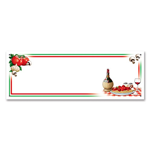 Beistle 57819 Italian Night Sign Banner, 5-Feet by 21-Inch -