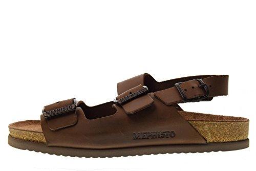 Rubber Casual Men's Leather Suede Brown Mephisto Cork Scratch Sandals Nardo Dark qxtYRYdZ