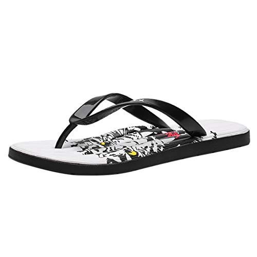 Corriee Deals Mens Flats Summer Flip Flops Beach Shoes Sandals Slippers Black