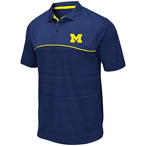 Mens Michigan Wolverines Levuka Polo Shirt - L (Michigan Wolverines Ncaa Baseball)
