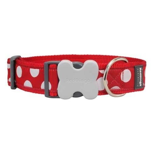 Red Dingo White Spots on Red Dog Collar, Giant Short