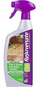 Rejuvenate Non-Toxic Bio-Enzymatic Safe and Scrub Free Tile and Grout Cleaner Lightens and Brightens Every Time – 24 oz.