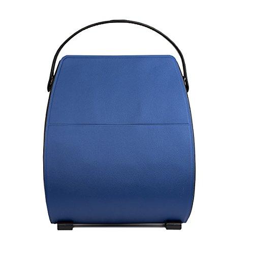 Bolsa Goccia In Colores Azul Made Italy Blue La Solid True Con Espejo Y Luz De cubierta Intercambiable Tie Otros ups Interna 5E7Bqn4