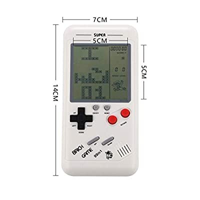 New Children Tetris Handheld Game Console Portable Game Handheld Toys White: Clothing