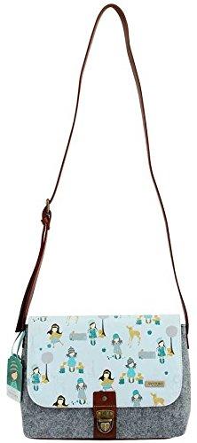 Shoulder Satchel Santoro Handbag Woodland Felt Gorjuss Adjustable Traveller Strap Bag YfqWxUB