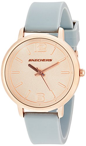 Skechers Women's 'The Ardmore' Quartz Metal and Silicone Casual Watch, Color:Grey (Model: - Ardmore Shops