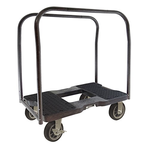 Snap-Loc-Cargo-Control-Systems-SL1500PC6B-All-Terrain-Panel-Cart-Dolly-with-Steel-Frame-4-Casters-Panel-Bars-Optional-E-Strap-Attachment-1500-lb-Capacity-Black