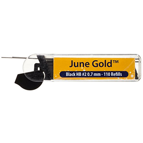 June Gold 72 Mechanical Pencils, 0.7 mm HB #2 Lead, 2 Lead Dispensers/w 220 Refills & 16 Refill Erasers, Break Resistant Lead, Convenient Side Click & Soft Non-Slip Grip by June Gold (Image #2)