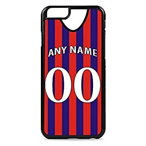 Case Fun Case Fun Personalised Crystal Palace Football Shirt, Any Name, Any Number Snap-on Hard Back Case Cover for Apple iPhone 6 4.7 inch