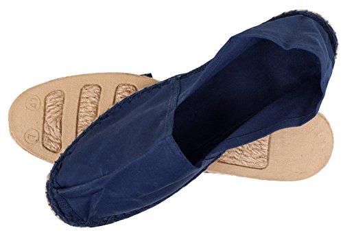 Sommerlatschen Espadrilles, klassisch, dunkelblau, Unisex, SL1094 Blau (Dunkelblau)