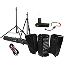 Fender Passport Event Portable PA System Bundle with Shure BLX14/SM31 Headworn Wireless System with SM31FH Fitness Headset and Accessories - Portable PA System