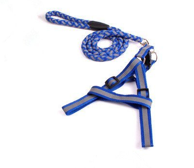 TLMY Pet Reflective Braided Traction Rope Dog Chain Chest Strap Pet Chain (color   bluee, Size   S)
