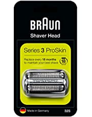 Braun Zamiennik głowicy golarki elektrycznej serii 3 32S – srebrna – kompatybilna z maszynami do golenia serii 3 ProSkin Shavers