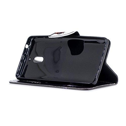 Leather Nokia Cas 2 Nokia de PU 2 Pochette Cover 2018 Coque Housse Coque 1 2 Cuir 1 Etui 2 Nokia Luxe Folio pour BONROY Housse ours Nokia Wallet Rabat Stand Magnétique Case à Téléphone Protection 2018 tp6qwa