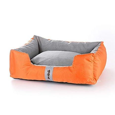 YSDTLX Cama para Perro Perrito Extraíble De La Perrera del Invierno del Colchón del Perro, Naranja, 55 * 45 * 19Cm: Amazon.es: Productos para mascotas