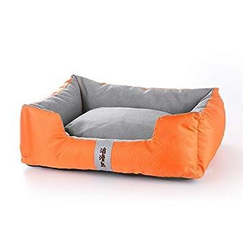 YSDTLX Cama para Perro Perrera Extraíble para Mascotas De Invierno, Naranja, 78 * 60 * 21 Cm: Amazon.es: Productos para mascotas