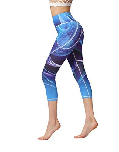 貨物ただ剣ヨガパンツ ファッション レディース 吸汗速乾 伸縮性 フィットネスウェア スポーツレギンス 柄パンツ 7分丈 9柄