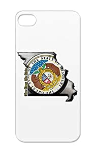 Tearproof TPU State Seal Cities Countries States Usa Region Home Free Missouri America North Silver Protective Case For Iphone 5 Missouri