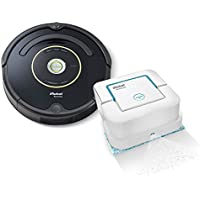 iRobot Roomba 650 Robotic Vacuum Cleaner - Estate Edition Includes iRobot Braava Jet 240 Mopping Robot! Robotic Vacuum & Mop! Great For Homes With Dogs, Cats & Pets. With Authentic iRobot Accessories