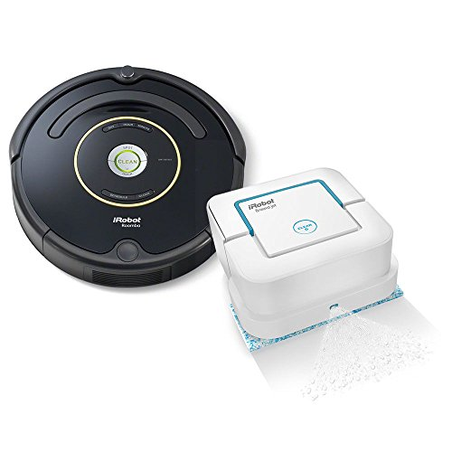 iRobot Roomba 650 Robotic Vacuum Cleaner – Estate Edition Includes iRobot Braava Jet 240 Mopping Robot! Robotic Vacuum & Mop! Great For Homes With Dogs, Cats & Pets. With Authentic iRobot Accessories For Sale
