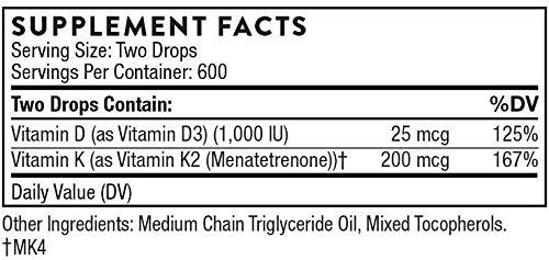 Vitamin D/K2 Liquid 3 Fluid Ounces (3 Pack)