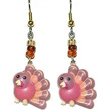 Thanksgiving Turkey Dangle Earrings (H242)