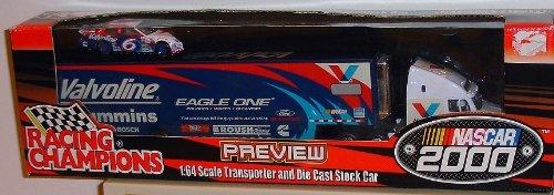NASCAR 2000 Racing Champions diecast Transporter & Stock Car Tractor (Racing Champions Stock Car)
