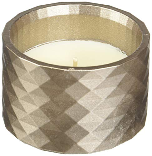 Candellana Candles Candlefort Candles Concrete Poly I-Brass, Scent: Lemongrass